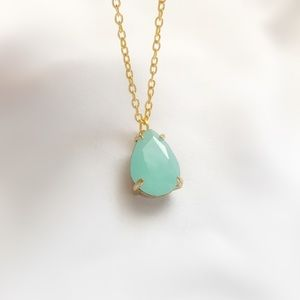 Jewelry - Teal Quartz Pendant Necklace 16 inch